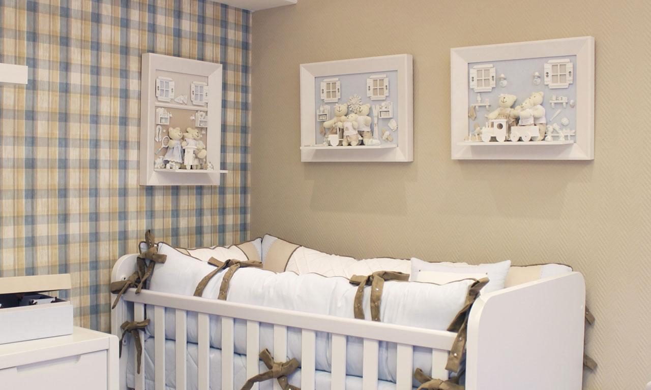Decoraç u00e3o de quarto de beb u00ea altura ideal dos quadros Blog Lilibee -> Decoração De Quarto De Bebê Ovelhinhas