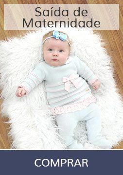 Saída de maternidade delicada e artesanal