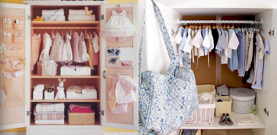 Dicas para arrumar armário de bebê