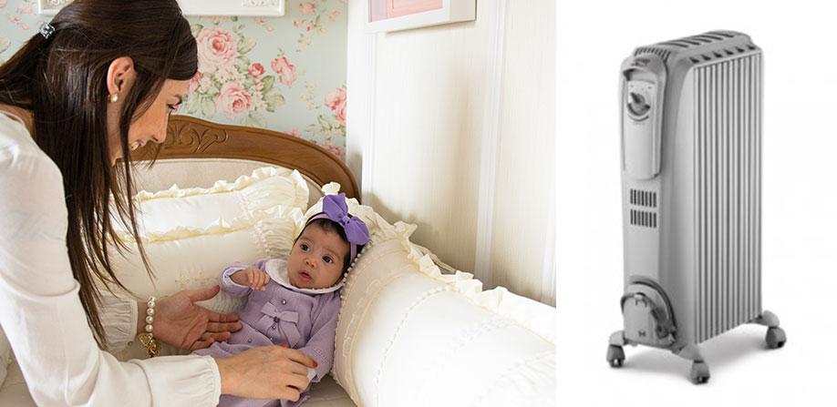 O uso do aquecedor no quarto dos bebês