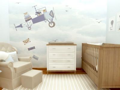 Confira dicas valiosas na hora de escolher o papel de parede para o quarto do bebê!