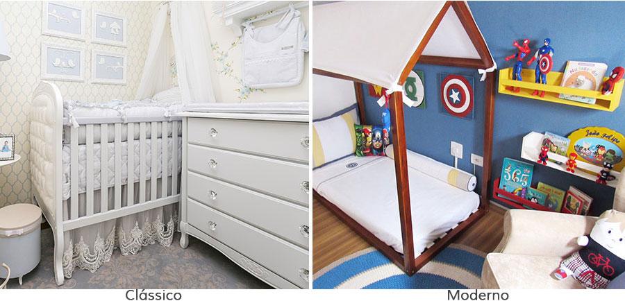 estilo no quarto de bebê