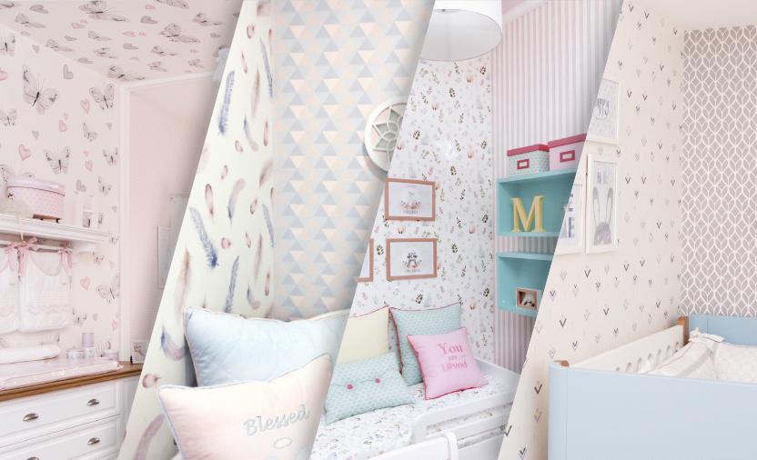 Como montar um mix arrasador de papel de parede para quarto de bebê
