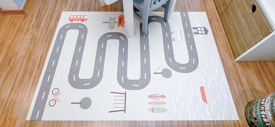quarto montessoriano tapete interativo