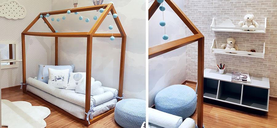 quarto montessori menino balão