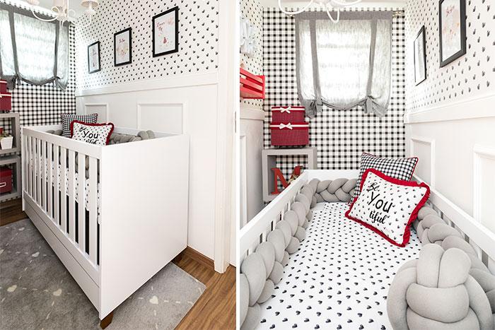 preto e branco para o quarto de menina - móvel