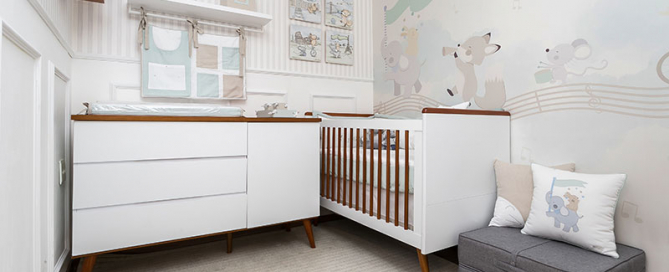 quarto de bebê banda de animais