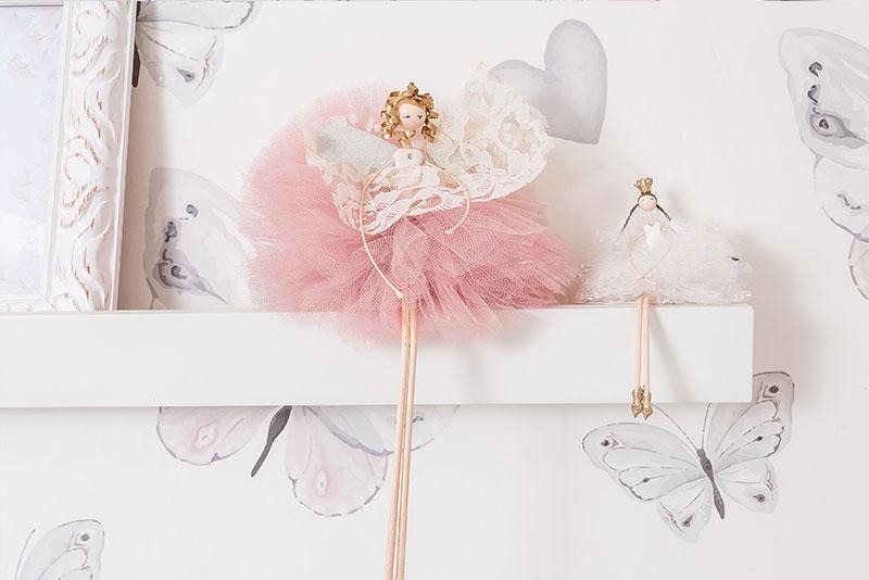 quarto clássico de menina borboletas - enfeite