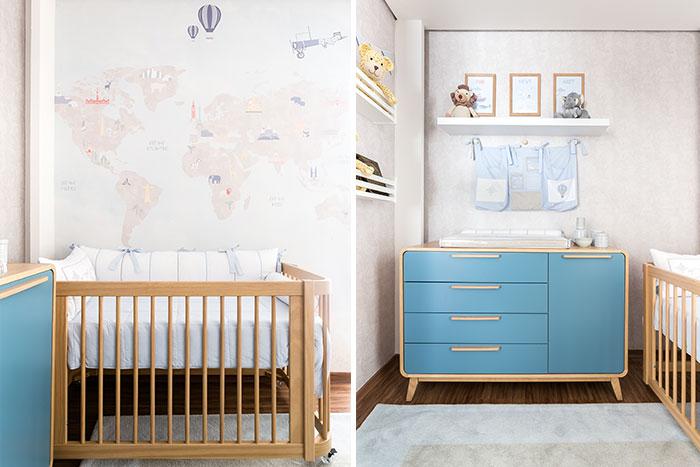 quarto de bebe tema safari - mobiliário