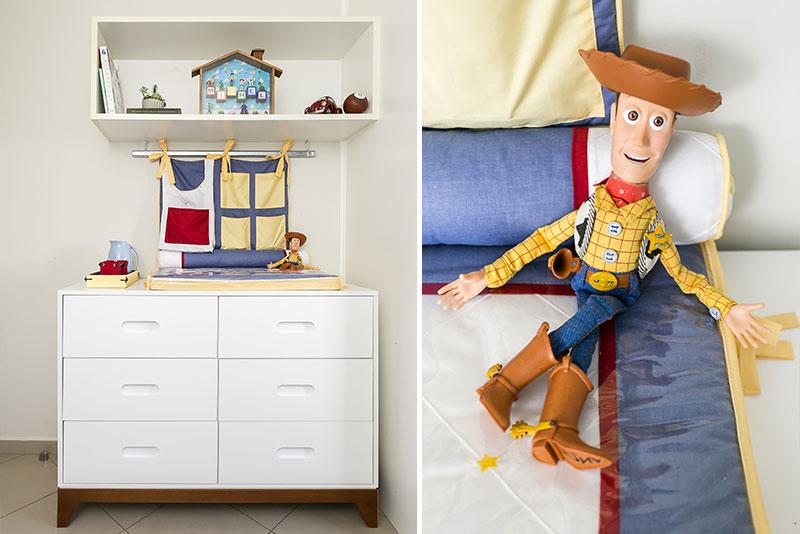 Quarto do Michel - Inspirado no filme Toy Story - comoda