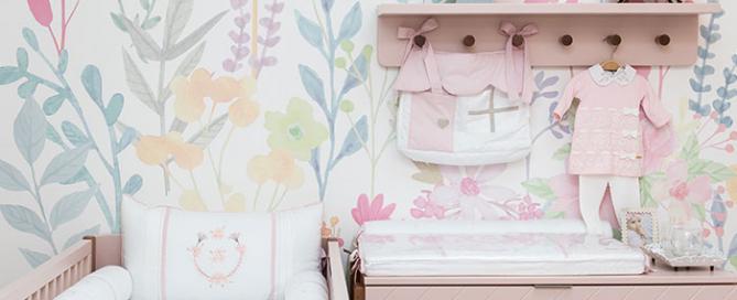 quarto floral para menina