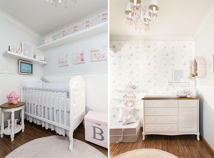 quarto de menina romântico - móveis