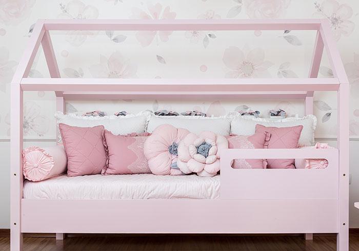 Quarto Montessoriano Floral - cama