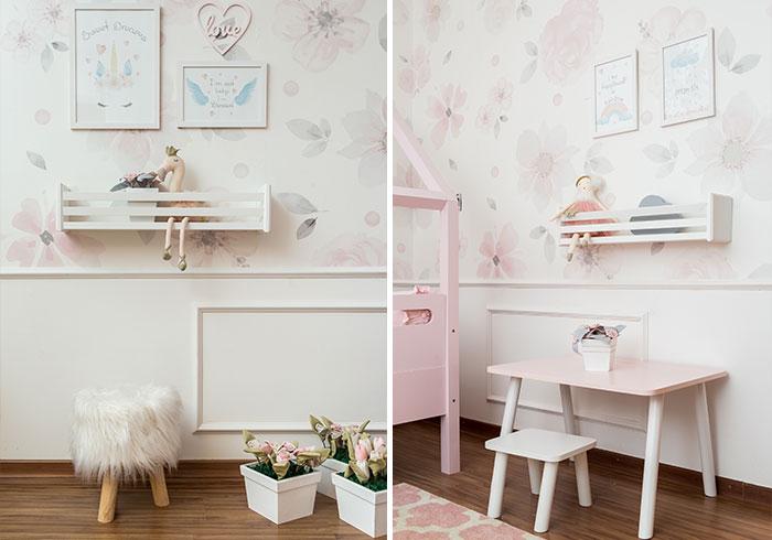 Quarto Montessoriano Floral - decor