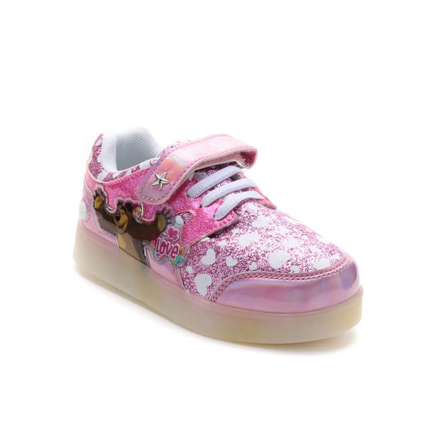 Zapatillas Con Luces Led Masha Y El Oso Footy