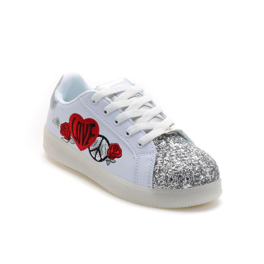 Zapatillas Con Luces Love Bordado 47 Street