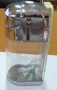 Dispensador jabon plastica 600ml $ 4.500 mas IVA