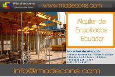 Alquiler & Venta de encofrados para la construcción en Quito.