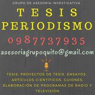 ASESORÍA TESIS Y TEMAS DE PERIODISMO