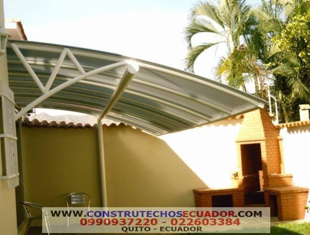 Techos corredizos domos pergolas con vidrio o policarbonato - Techo de policarbonato precios ...